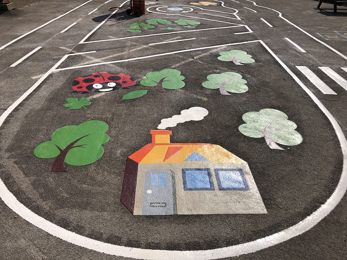 Roadways Playground Marking Gallery Images